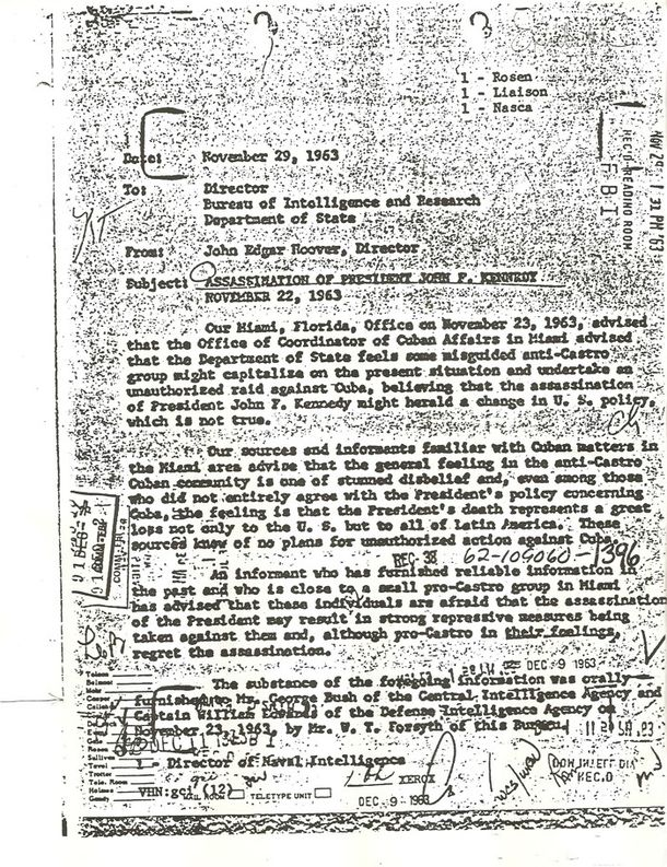 1963 FBI Memo mentioning Mr. George Bush of the Central Intelligence Agency.jpg