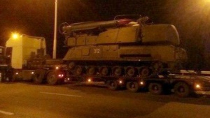 Ukrainian Forces BUK #312 at night