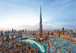 The Burj Khalifa, the world's tallest building
