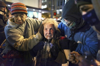 84-year-old Occupy protester Dorli Rainey, pepper-sprayed in the face by police in 2011
